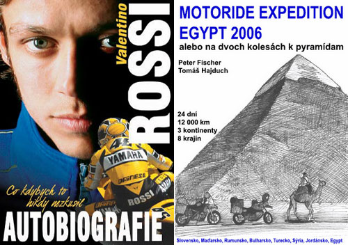 Knihy: Autobiografie Valentino Rossi a Motoride Expedition Egypt 2006
